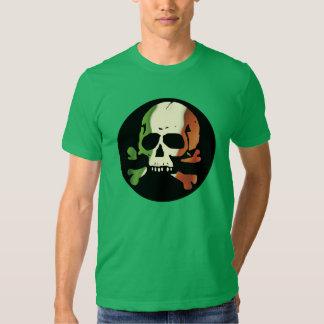 Irish Flag Skull Plain Tshirts
