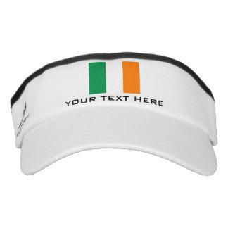 Irish flag sports sun visor cap hat for Ireland