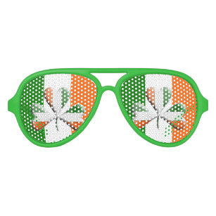 0ef97910ce Irish Flag Tri Colors Themed Shamrock Aviator Sunglasses