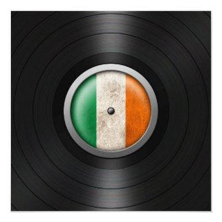 Irish Flag Vinyl Record Album Graphic 13 Cm X 13 Cm Square Invitation Card