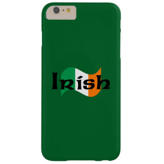 Irish Flag with Celtic Font Barely There iPhone 6 Plus Case