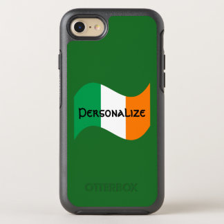 Irish Flag with Celtic Font OtterBox Symmetry iPhone 7 Case