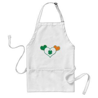 Irish Flag with Hearts Standard Apron