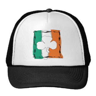 Irish Flag with Shamrock Trucker Hat