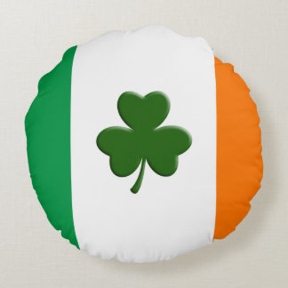 Irish Flag with Shamrock Pillow