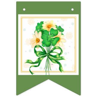 IRISH FLOWERS BUNTING BANNER