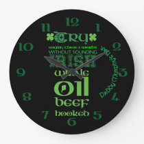 Irish folklore personalised large clock