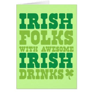 IRISH FOLKS WITH AWESOME IRISH DRINKS CARDS