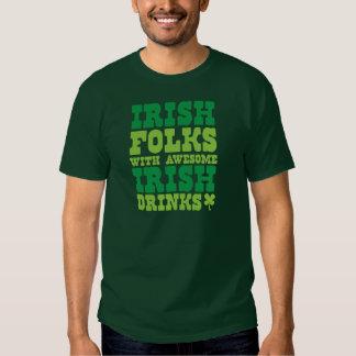 IRISH FOLKS WITH AWESOME IRISH DRINKS SHIRTS