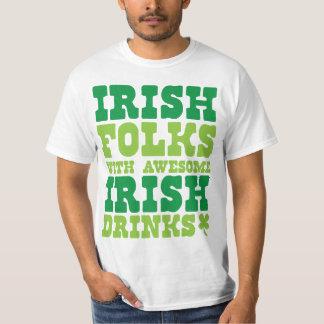IRISH FOLKS WITH AWESOME IRISH DRINKS TEE SHIRT