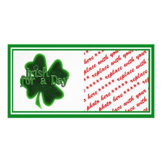 Irish For A Day Custom Photo Card