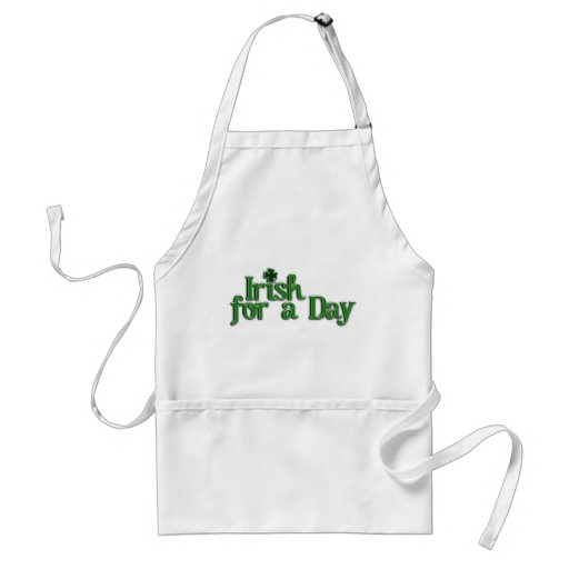 Irish For A Day Text Image Aprons