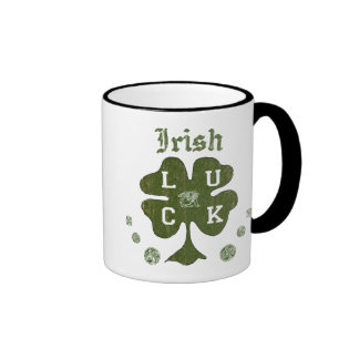 Irish Four Leaf Clover Luck Mug