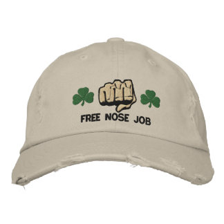 Irish Free Nose Job Embroidered Hat