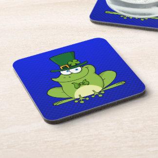 Irish Frog; Blue Coaster
