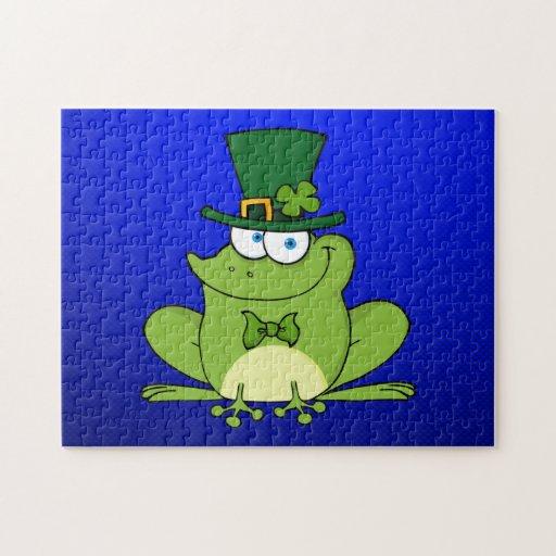 Irish Frog; Blue Jigsaw Puzzle