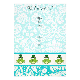 Irish Frog Cute Personalized Announcement