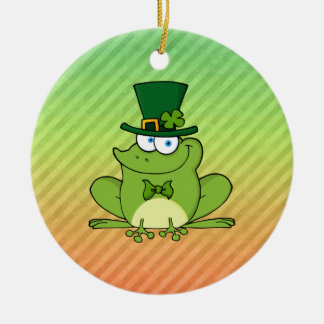 Irish Frog Design Christmas Ornament