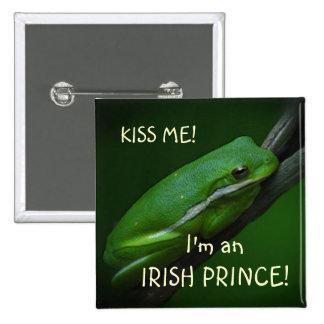 Irish Frog St Patrick s Day Button