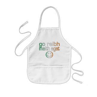 Irish Gaelic Gifts Thank You / Go Raibh Maith Agat Kids Apron