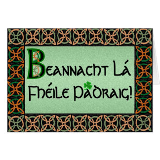 Irish Gaelic St. Patrick's Day Card