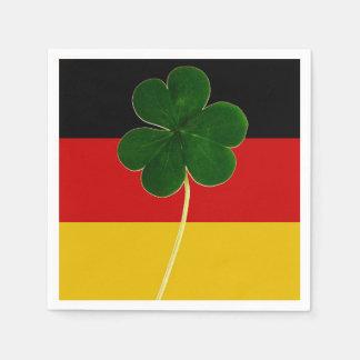 Irish German Flag Shamrock Clover St. Patrick Fun Paper Napkin