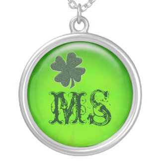 Irish gifts to customize round pendant necklace