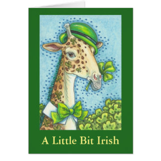 IRISH GIRAFFE ST. PATRICK'S DAY GREETING CARD