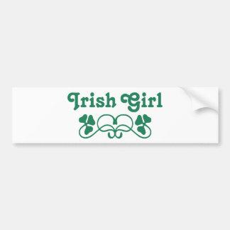 Irish Girl Car Bumper Sticker