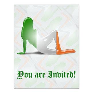 Irish Girl Silhouette Flag 11 Cm X 14 Cm Invitation Card