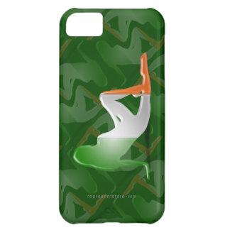 Irish Girl Silhouette Flag iPhone 5C Cases