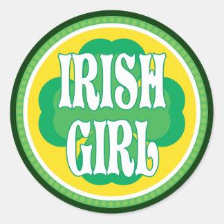 Irish Girl Round Sticker