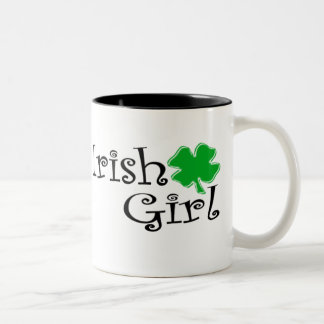 Irish Girl Two-Tone Coffee Mug