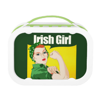 Irish Girl Vintage Rosie Riveter Lunch Box