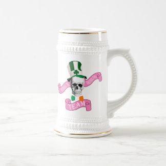 Irish girls drinking team beer stein