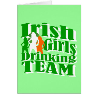 Irish girls drinking team greeting card