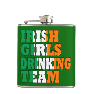 Irish girls drinking team hip flask