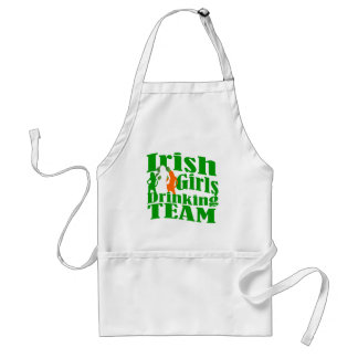 Irish girls drinking team standard apron