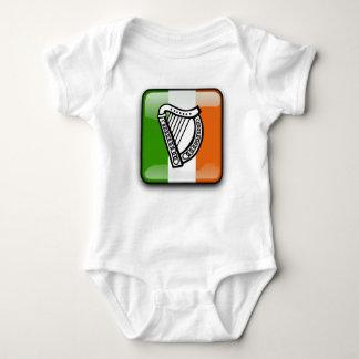 Irish glossy flag baby bodysuit