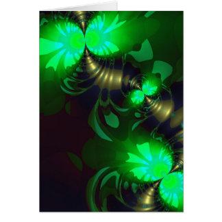 Irish Goblin – Emerald and Gold Ribbons Greeting Card