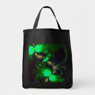 Irish Goblin – Emerald and Gold Ribbons Grocery Tote Bag