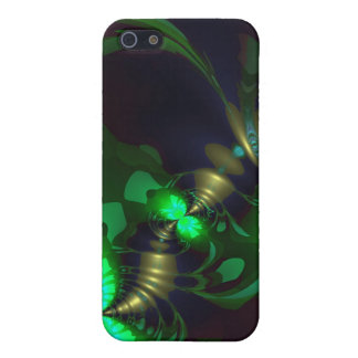 Irish Goblin – Emerald and Gold Ribbons iPhone 5 Cases