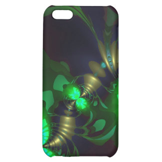 Irish Goblin – Emerald and Gold Ribbons iPhone 5C Cover
