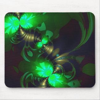 Irish Goblin – Emerald and Gold Ribbons Mouse Pad