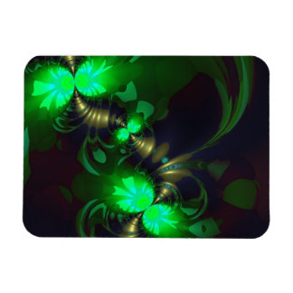Irish Goblin – Emerald and Gold Ribbons Rectangular Magnet