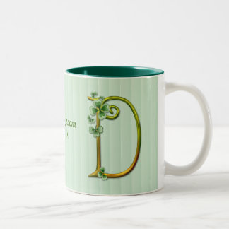 Irish Gold Monogram D - Customize Two-Tone Coffee Mug