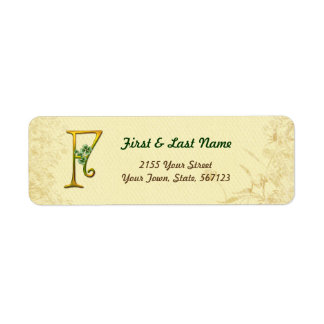 Irish Gold Monogram F Label