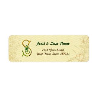 Irish Gold Monogram S Label