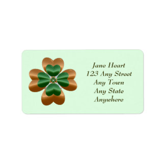 Irish Golden Shamrock Avery Label Address Label