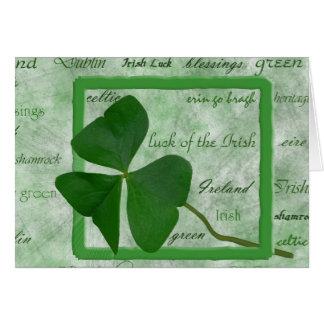 Irish Good Luck Note Card